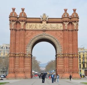 Dies ist der Triumphbogen von Barca