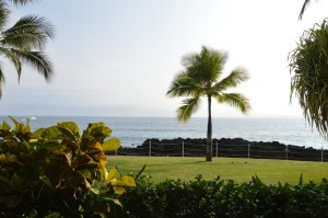Blick auf den Pazifik vom Balkon aus